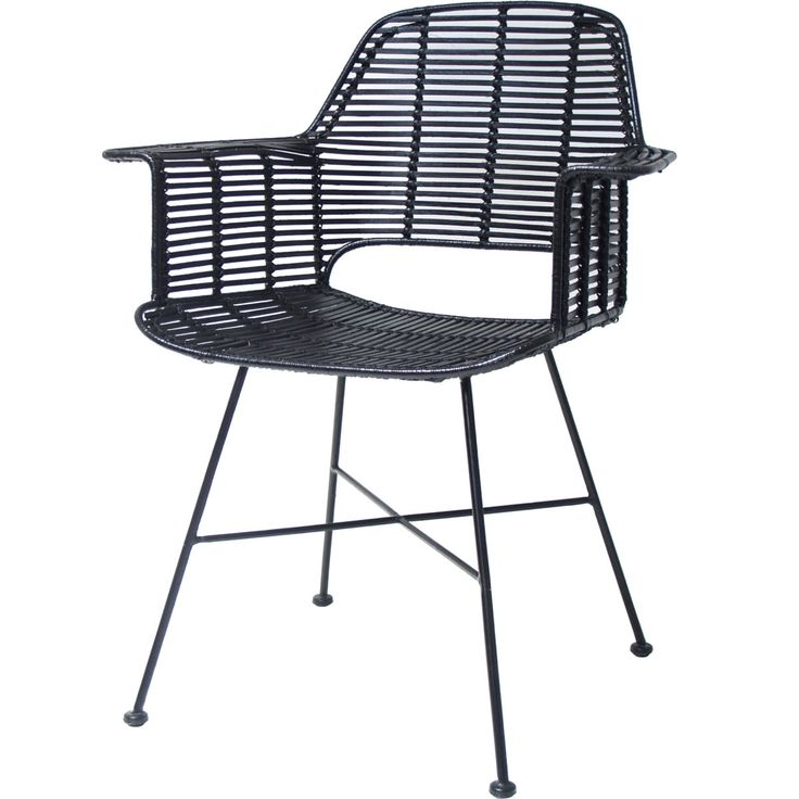Rattan Tub Chair with Armrest • WOO Design