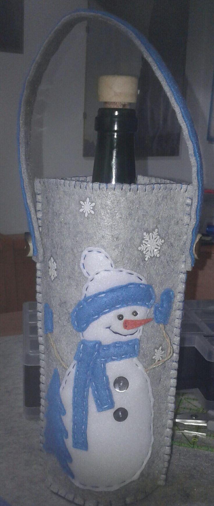 Portabottiglie natalizio -di luisa valent