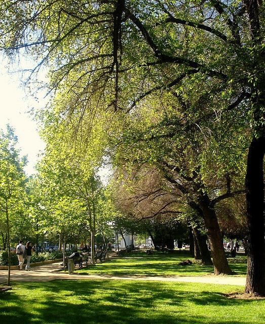 Parque Bustamante, Santiago de Chile.
