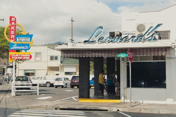 Leonard's for Masaladas (Portuguese fried donuts) - a favorite Hawaiian treat on H50.