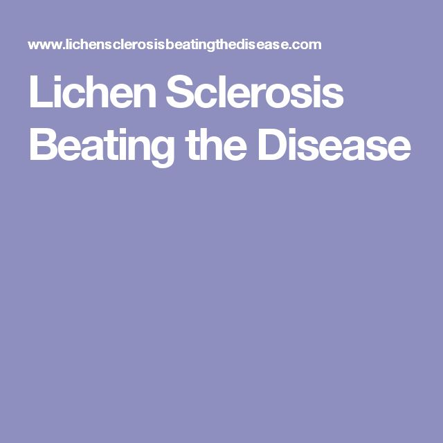 Dating a girl with lichen sclerosis