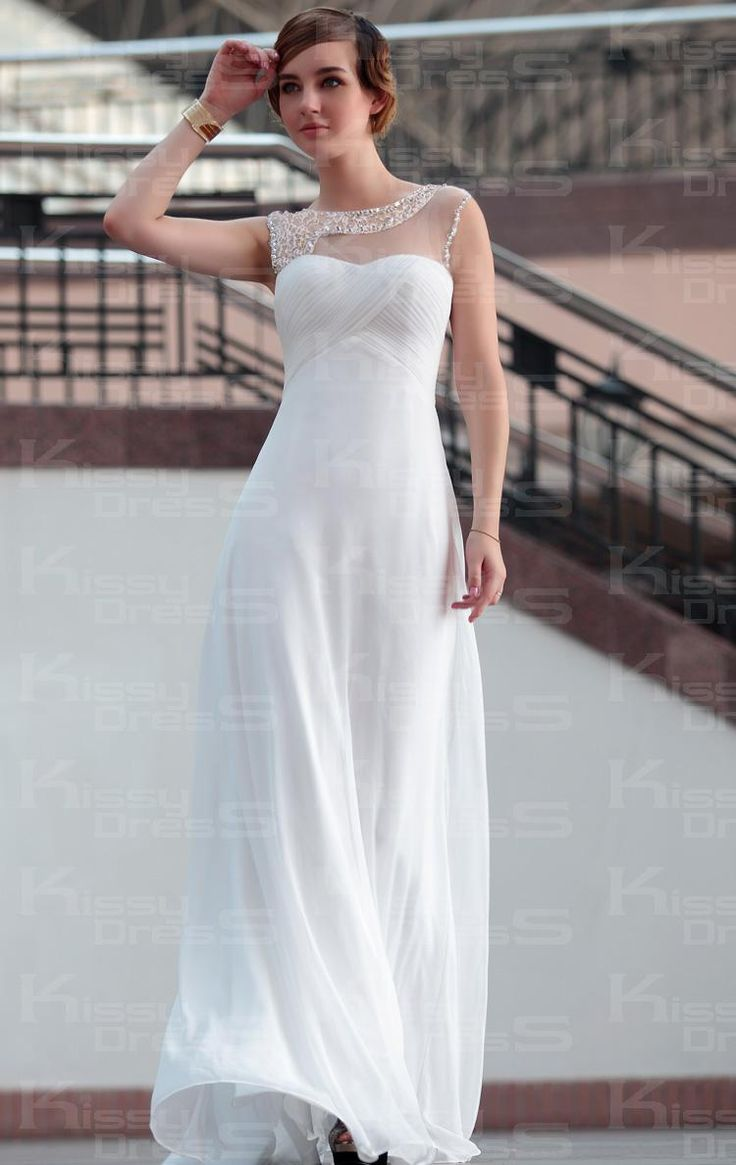Elegant Sheath/Column Boat-Neck Sleeveless Long Prom Dress