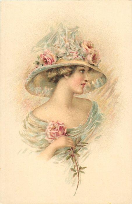 Vintage lady in beautiful hat