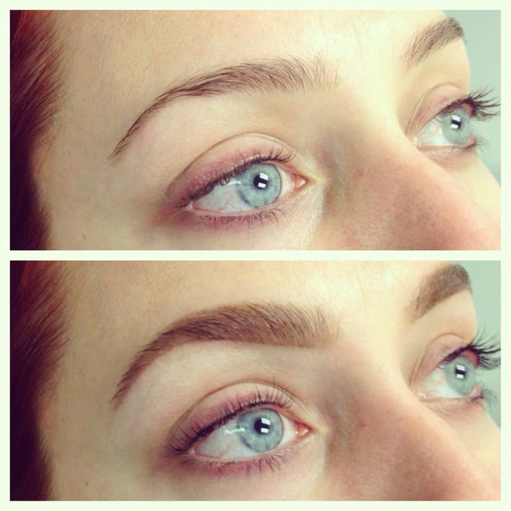 Before And After Brow Shaping And Lash Tint By Brows By