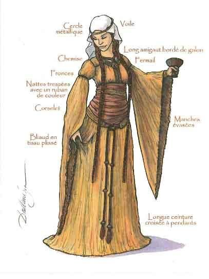 Bliaut...this looks a LOT like Eowyn's dress.