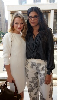 Shantel Van Santen and Rachel Roy 2011- love both outfits and the glasses