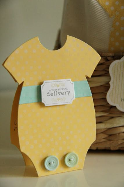 sweet DIY card for expecting mom or baby shower invitation
