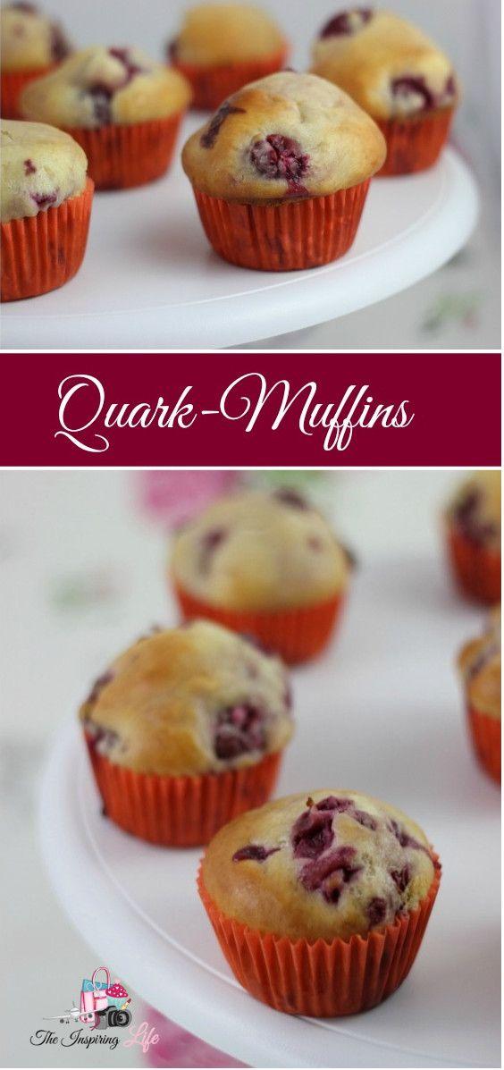 Easy Recipe: Delicious muffins with cherries - Schnelles und einfaches Rezept für Muffins mit Quark und Kirschen | Auch für Kindergeburtestage geeignet. http://www.the-inspiring-life.com/2017/01/food- (Baking Desserts Mini)