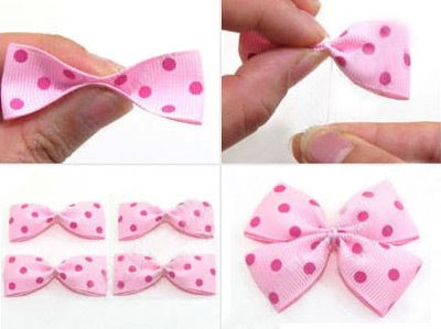how to make a bow from ribbons   How To Make Ribbon Bows For Hair Clips ∙ How To by sandy l. on Cut ...