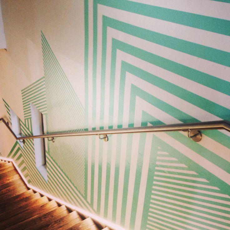 Scotch tape work with Zanetti Studiocontemporaneo at ATM Bobino - Fuorisalone 2014 Milano