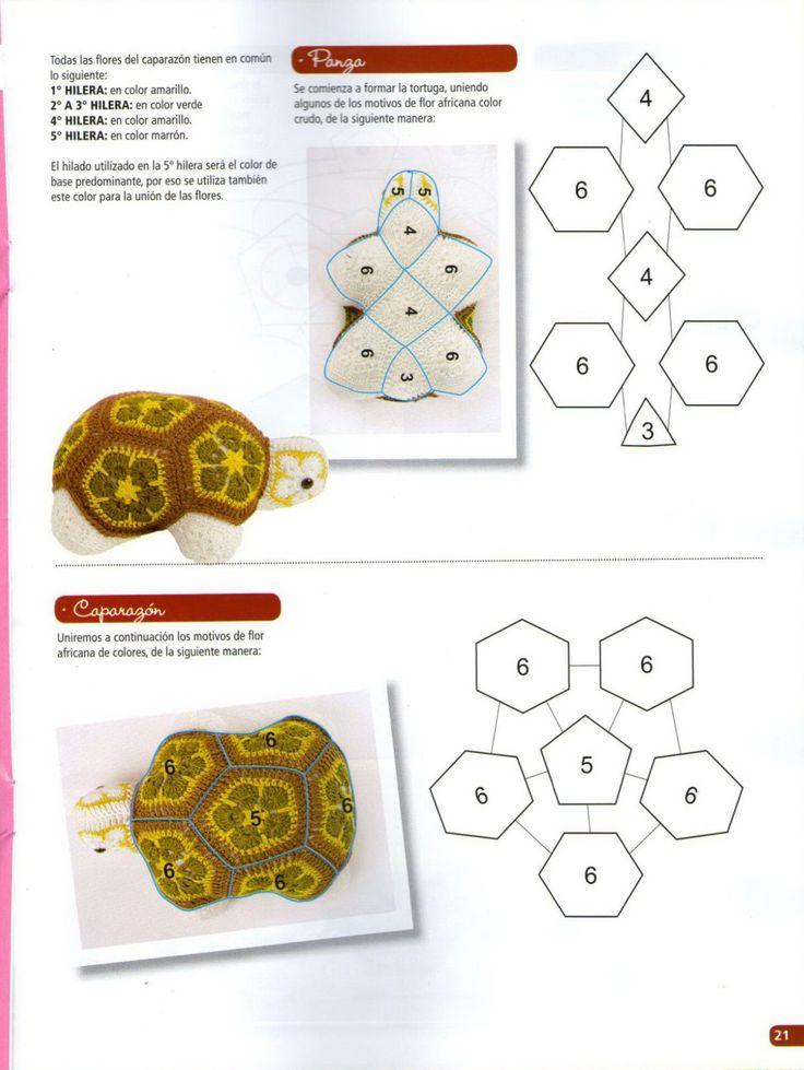 56 best crochet african flower toys and mor images on Pinterest ...