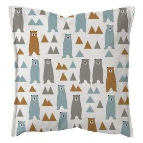 """Dekoratyvinės pagalvėlės užvalkalas """"Pastel Bears"""" Decorative pillow cushion cover for kids"""