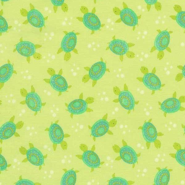 Timeless Treasures Fabrics Novelty Green Sea Turtles | Fabric