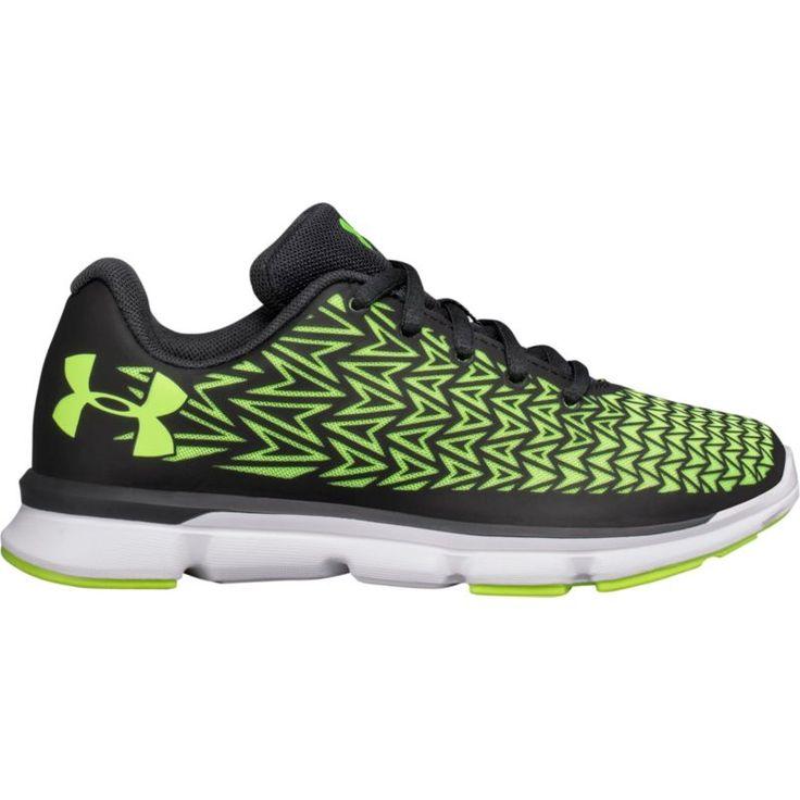 Under Armour Kids' Preschool ClutchFit Rebel Speed 2 Running Shoes, Boy's, Size: 3.0, Black/Green