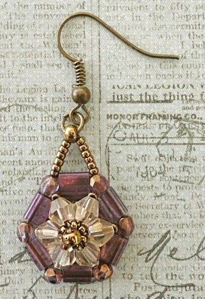 Linda's Crafty Inspirations: Desert Flowers Earrings