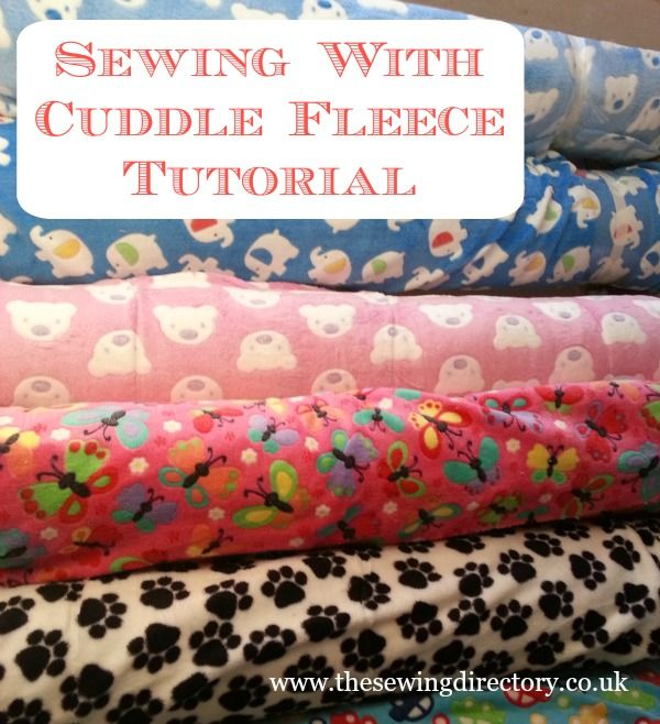 Learn how to handle cuddle fleece for your sewing projects with this technique guide