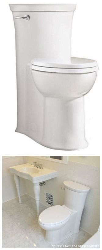 I will never buy a regular toilet again! Notice the concealed trap... The skirted style is SO much nicer, AND easier to clean!