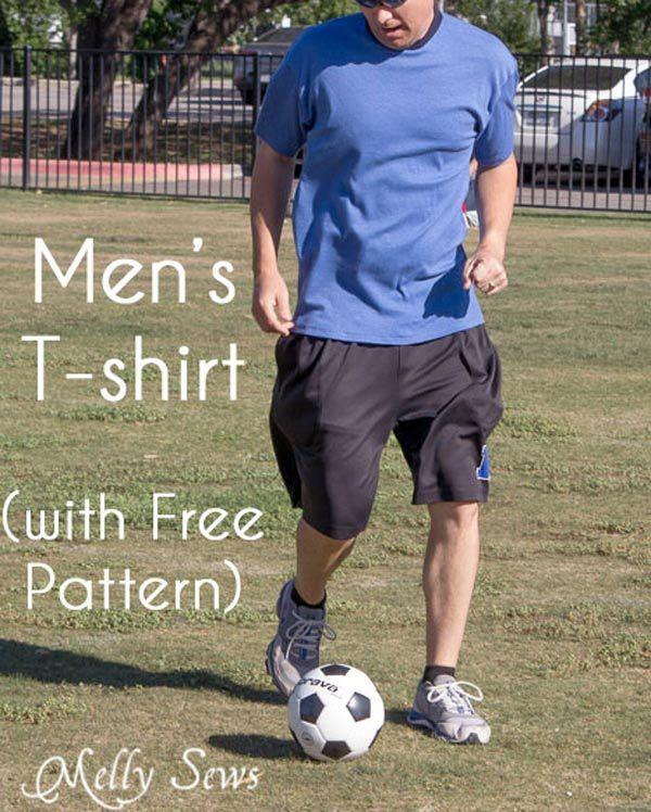 Patron gratuit : un t-shirt basique pour homme