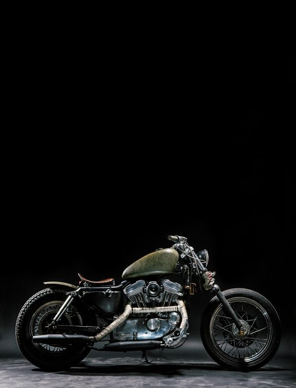 "1997 Harley-Davidson Sportster 883 ""The witch"" on Behance"