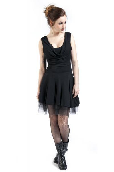 EMP Black Premium wide collared dress