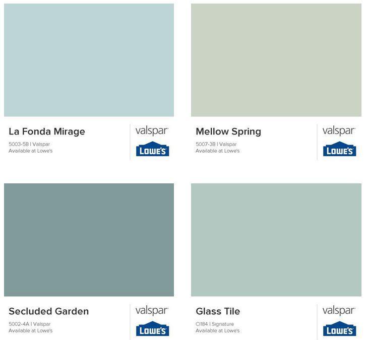 Elizabeth Burns Design | Beach House Color Scheme - Sea glass colors and bright aqua blues!