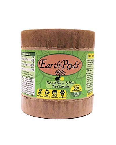 EarthPods Premium Biological Organic Plant Food  Flower Fertilizer Capsules With 70 Minerals  Nutrients High  HumicFulvic Acids  Beneficial Natural Plant Growth Microbes  Organic Gardening *** Want to know more, click on the image.