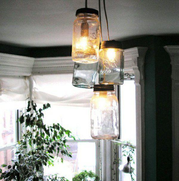 lampe selber machen - hängende becher mir derselben größe