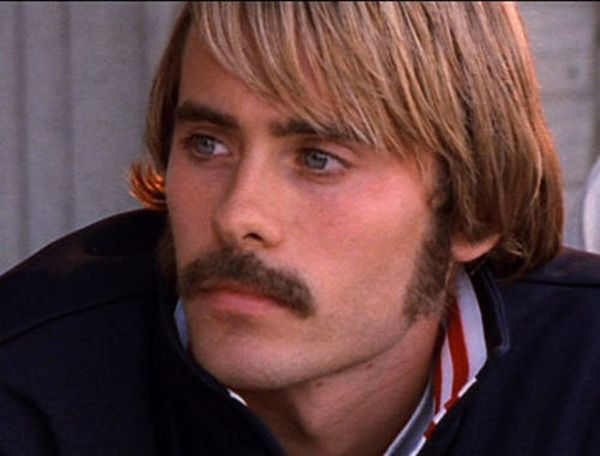 1997:  Jared Leto's first starring role was in the movie Prefontaine, in which he played '70s athlete Steve Prefontaine. He looks the part, with dirty blond hair, sideburns, and a mustache.