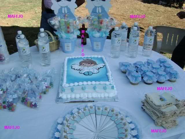 decoracion de mesas para bautizo niño - Google Search