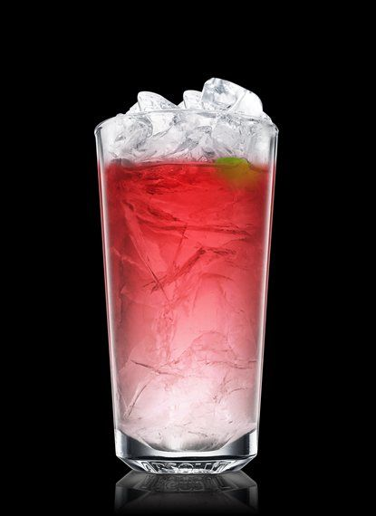 ABSOLUT Citron Long Board - Fill a chilled highball glass with ice cubes. Add ABSOLUT Citron and triple sec. Top up with cranberry juice. Garnish with lime. 2 Parts ABSOLUT CITRON, 1 Part Triple Sec, Cranberry Juice, 1 Peel Lime