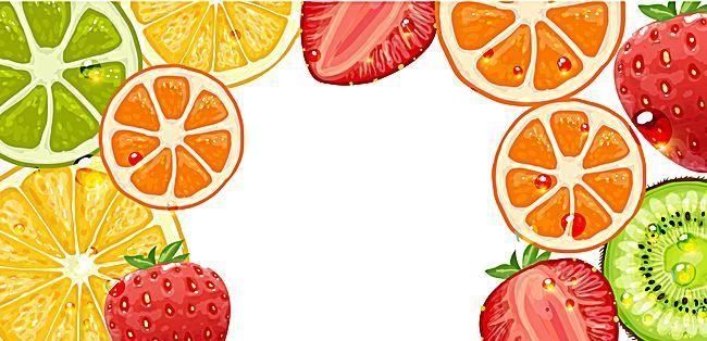 Vector Cartoon Fruit Background Border Fruit Cartoon Fruit Picture Banner Vector