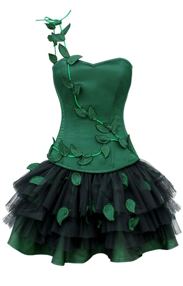 Poison Ivy Halloween Outfit | Corset dresses | Corsets £55 corsets uk
