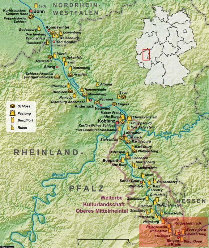 Ein Tagesausflug Ins Obere Mittelrheintal Den Rheingau Deutschland In 2020 Mittelrhein Rudesheim Am Rhein Rheine