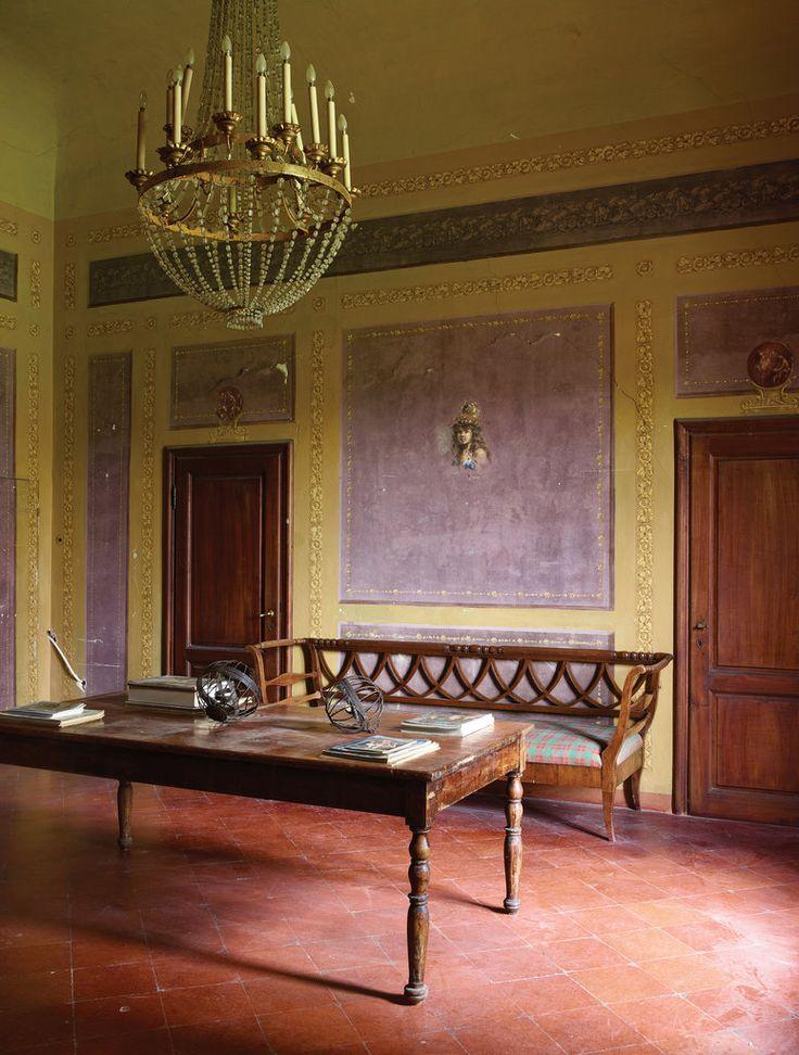 Inside Three Rarely Seen Renzo Mongiardino-Designed Homes - Garani Villa, Fiesole, 1953. One of Mongiardino's earliest commissions, the now-decaying house - The New York Times