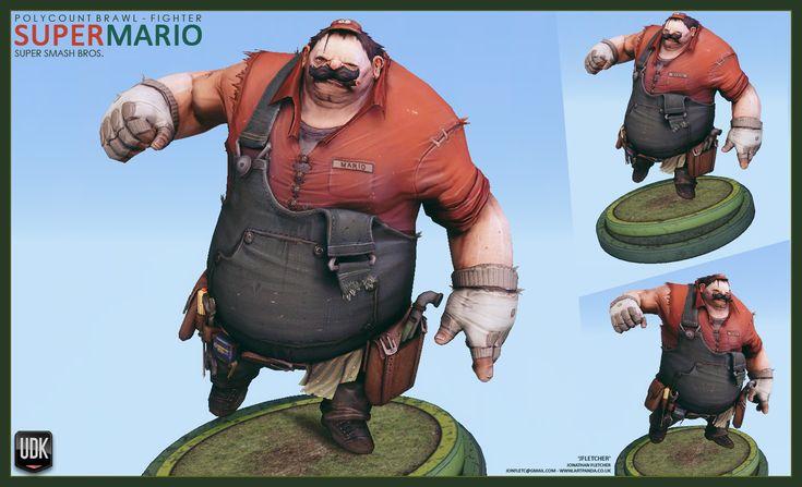 Polycount BRAWL [FIGHTER] Super Smash Bros, Mario, JFletcher