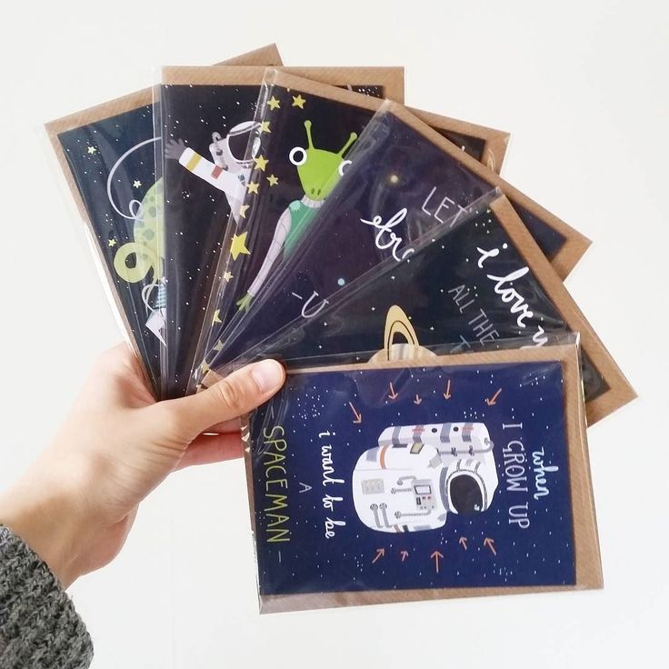 Lots of space themed cards in this order!