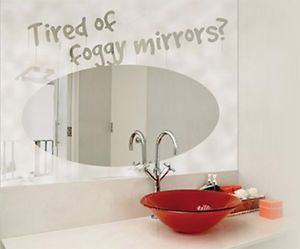Heated Bathroom Mirror Heater/Demister- Rectangular/Oval/Round Available | eBay