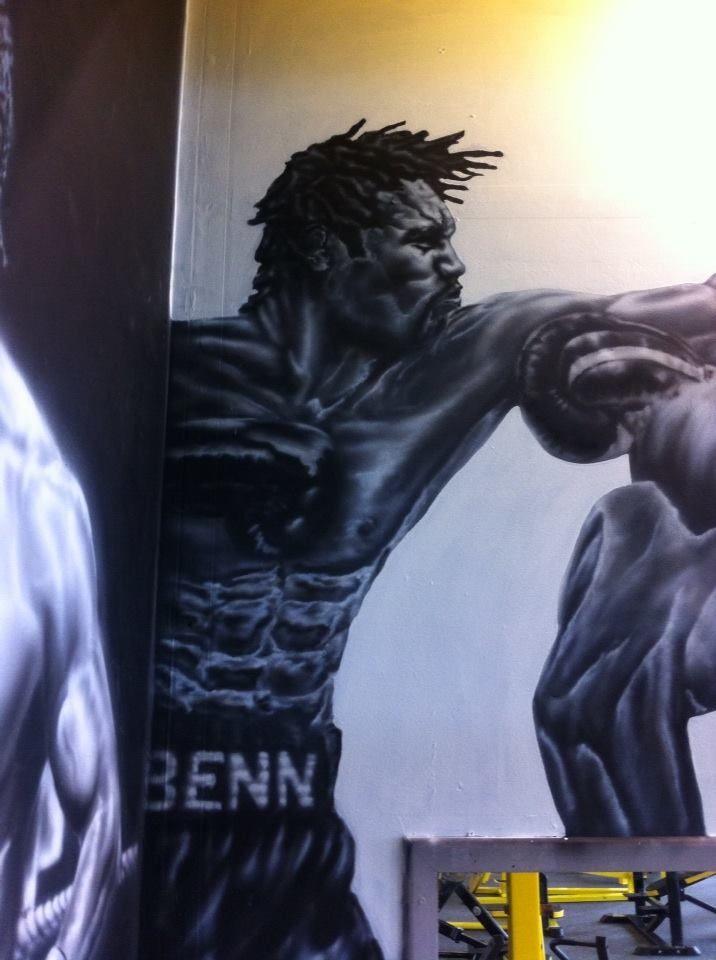 Nigel Benn   Planet Fitness Gym Bradford Painting