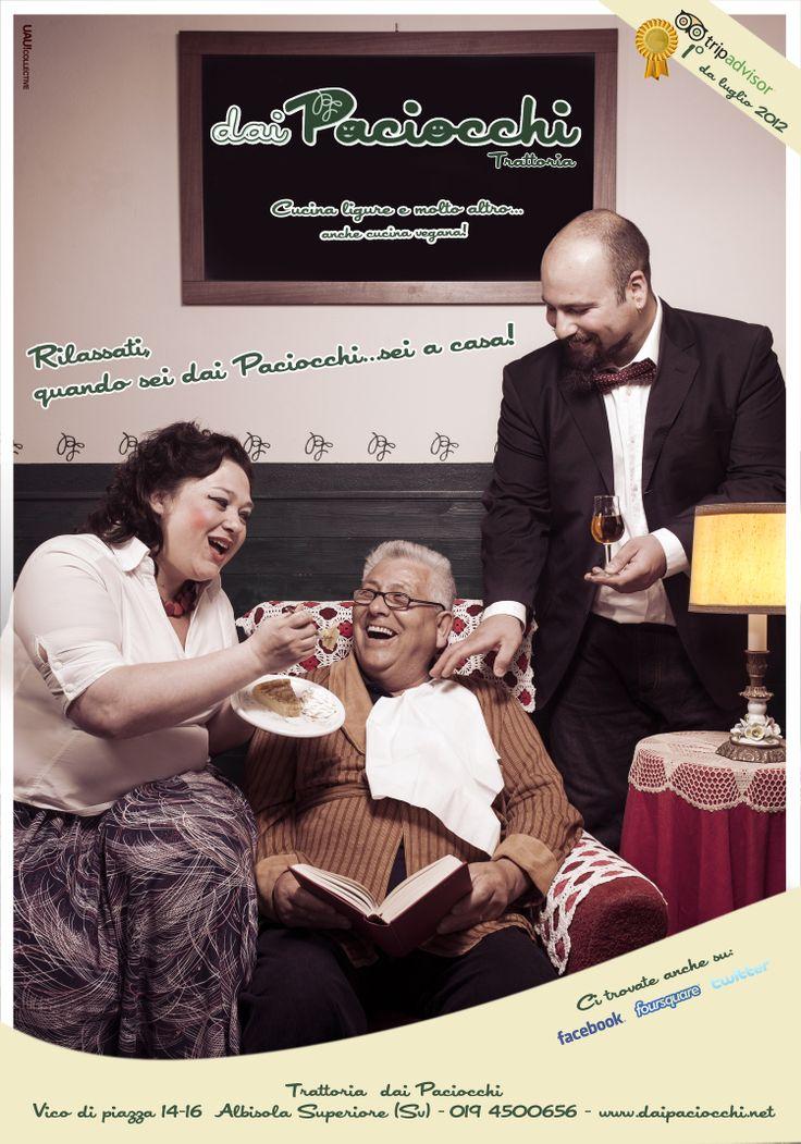 Campagna Immagine per Trattoria DAI PACIOCCHI - Albisola (SV) Primavera 2013 #visitriviera #adv #liguria