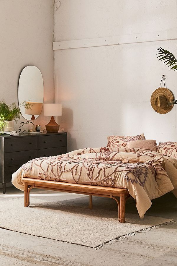 Wren Rattan Bed Rattan Bed Rattan Bed Frame Modern Bed