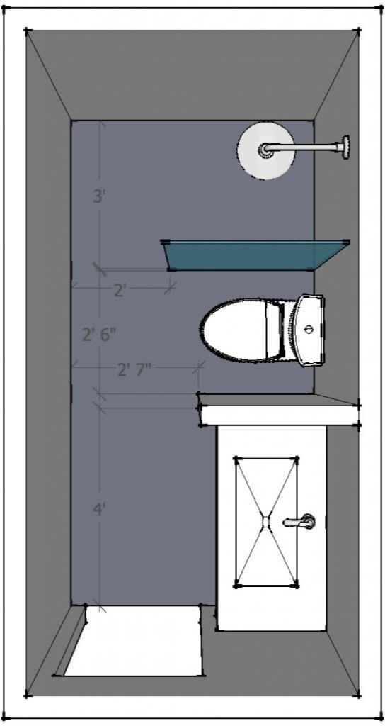 5 X 10 Bathroom Layout Help