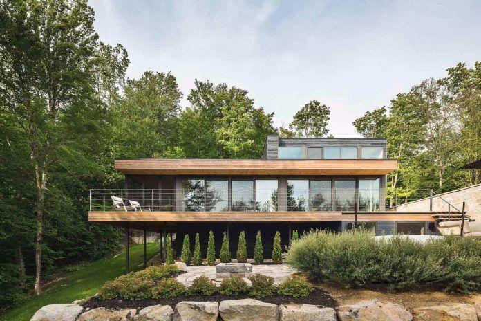 Estrade Residence: contemporary forrest home in the verdant Laurentians in Quebec - CAANdesign
