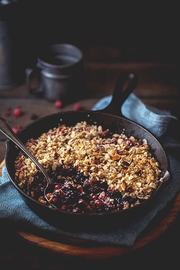 Crumble aux flocons d'avoine et fruits rouges #crumble #avoine #fruitsrouges