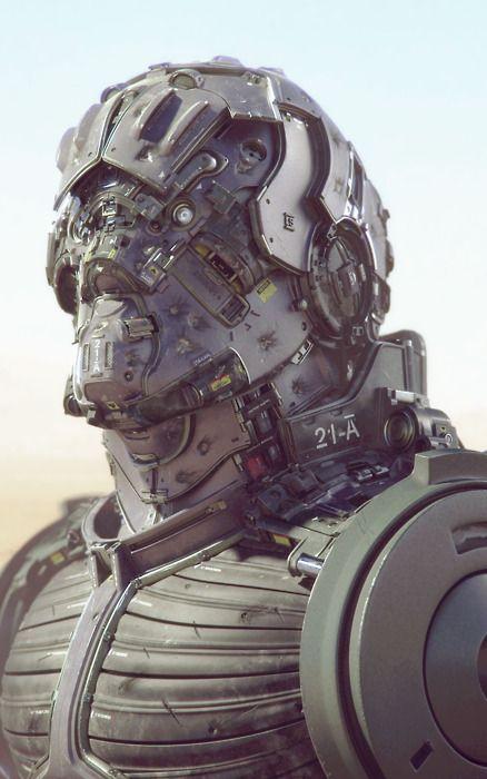 Bot. # cyberpunk, robot girl, cyborg, futuristic, android, sci-fi, science fiction, cyber girl, digital art