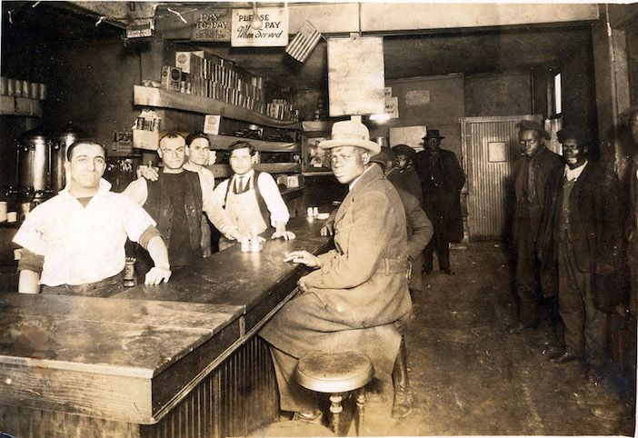 A Greek-owned diner in Pittsburgh's Hill District, circa 1930s and interestingly, already integrated and serving African American patrons, more than three decades before the Civil Rights Movement would take place.
