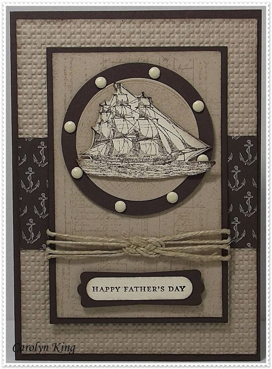 love the hemp knot    Stamps - Stampin' Up The Open Seas and Teeny Tiny Sentiments  Paper/Cardstock - Stampin' Up Nautical Expedition DSP, Early Espresso, Natural Ivory