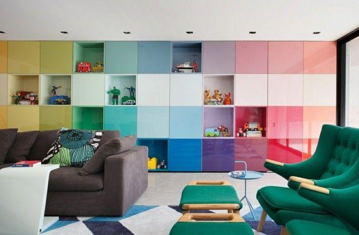 wohnungsgestaltung fluoreszierende farbe farbgestaltung