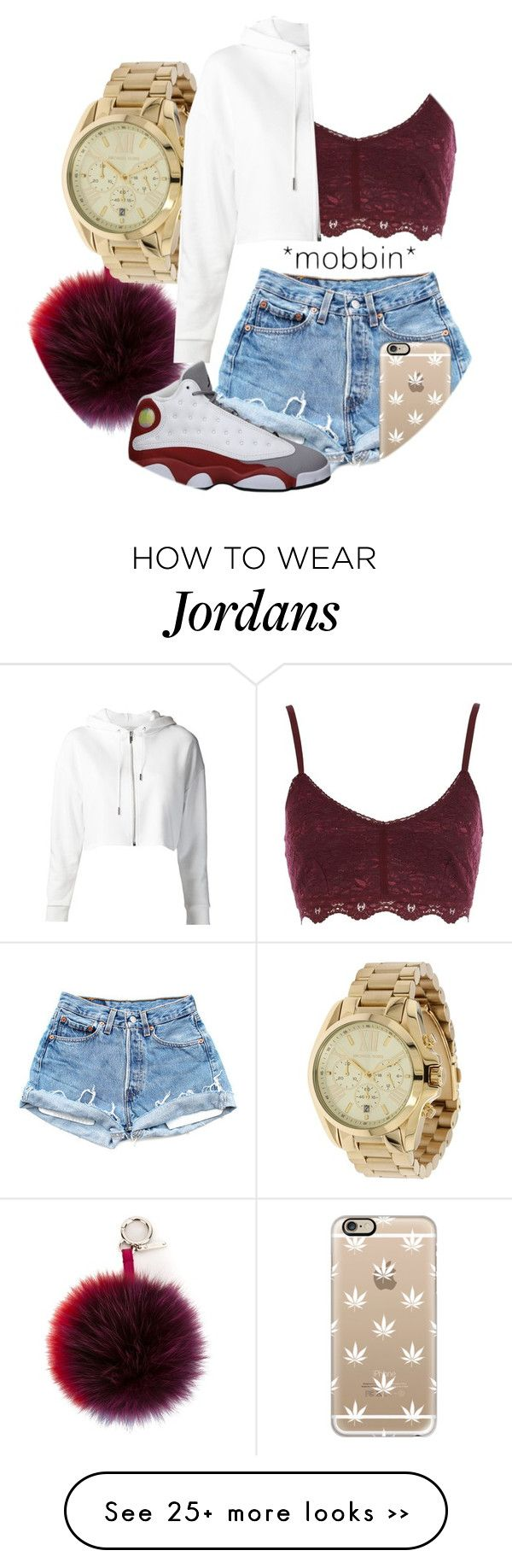 """""""first day is monday…"""" by yvnglisha on Polyvore featuring River Island, Fendi, Michael Kors, Yves Saint Laurent and Casetify"""