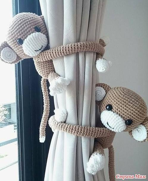 andrea croche: Amigurumin prendedor de cortina