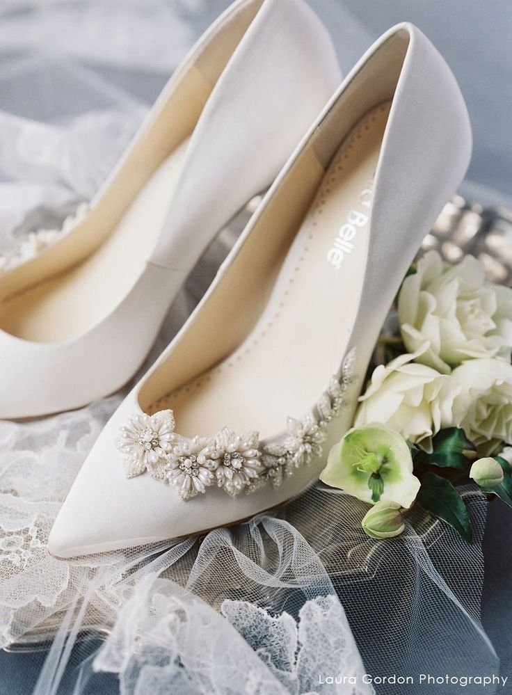 3d Floral Pearls And Ivory Beads Wedding Pump In 2020 Wedding